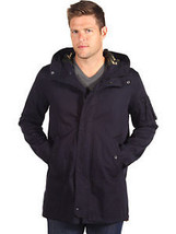 NWT Mens VINCE Camo Lined Hooded Jacket parka in navy blue sz XXL $395 - $117.81