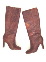 NEW Frye Boots Ava tall heel patch leather in Cognac sz 6.5 $400 - $138.59