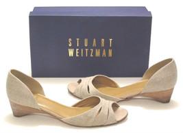 Stuart Weitzman shoes Poeta linen wedge heels sz 8 - $24.95