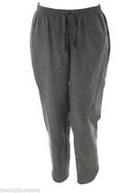 Rebecca Taylor Linen Drawstring Track Ankle Crop Pants w/ Slits Gray sz S - $32.56