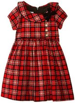 Bonnie Jean Little Girls' Tartan Plaid Corduroy Dress, Red, 3T [Apparel] Bonn...