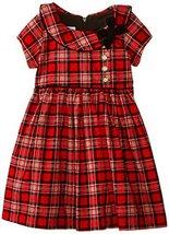 Bonnie Jean Little Girls' Tartan Plaid Corduroy Dress, Red, 5 [Apparel] Bonni...