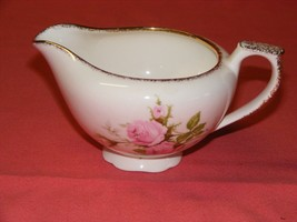 Canonsburg Moss Rose Cream Pitcher  22 K  Brushed Gold Trim  - $14.00