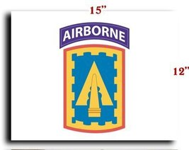 US Army 108th Air Defense Artillery Brigade w Airborne Tab SSI CANVAS art pri... - $20.78
