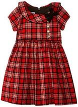 Bonnie Baby Baby-Girls Infant Corduroy Printed Plaid Dress 6 [Apparel] - $36.53