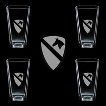 Us Army 1st Cavalry Division 1 Ssi 4 Glass Set - $34.64