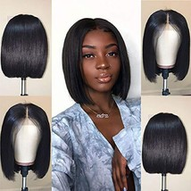 Jaja Hair Short Bob Wigs Brazilian Virgin Hair Straight Bob Wigs Lace Front Huma