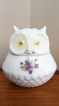 Vintage Lefton Porcelain Owl Hand-Painted Trinket Box ~ Japan - $7.91