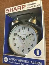 Sharp Quartz Analog Twin Bell Alarm Clock  - $39.00
