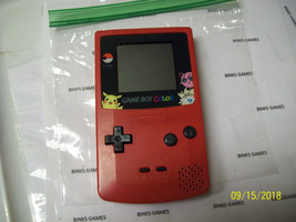 GameBoy Color  Berry Pink Handheld System  POKEMON SCREEN COVER - $34.97