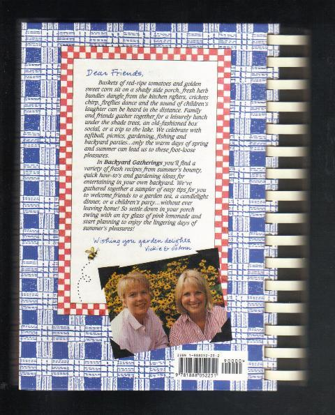 Gooseberry Patch, Backyard Gatherings, 1999 Hardcover, Crafts & Recipes