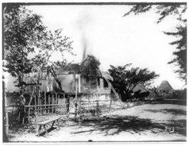 Philippine insurrection]: Burning of native huts [Kitchen] - $12.99