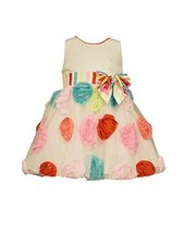 Bonnie Baby Baby-Girls Multi Bonaz Circle Print Dress, Aqua, 18 Months [Apparel] - $42.47