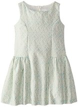Bonnie Jean Little Girls' Novelty Brocade Bow Back Dress, Aqua, 6 [Apparel] B...