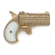 Old West RE-ENACTORS Replica 1866 Brass Finish Double Barrel Derringer - $69.95