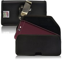 Turtleback Belt Case Made for HTC One A9 Black Holster Leather Pouch with Heavy  - $36.99