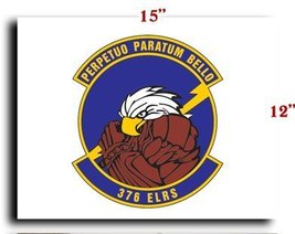 Air Force USAF 376th Expeditionary Logistics Readiness Squadron CANVAS art pr... - $20.78