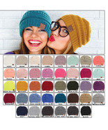 New C.C. Thick Slouchy Knit Beanie Oversize Warm Cap Unisex Hat Solid On... - $9.99