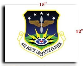 Air Force USAF Shield Doctrine Center CANVAS art print framed stretched ... - $20.78