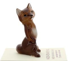 Hagen-Renaker Miniature Ceramic Figurine Fox Papa - $9.49