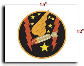 Air Force USAF AAC 333rd Bomb Squadron 94th Bomb Group SSI CANVAS art pr... - $20.78
