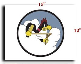 Air Force USAF AAC 359th Fighter Squadron 356th Fighter Group SSI CANVAS art ... - $20.78