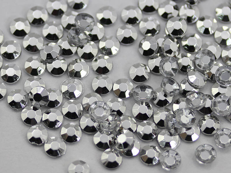 3mm SS12 Silver Plated A59 Acrylic Rhinestones High Quality - 200 PCS