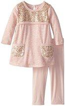 Bonnie Baby Baby Girls' Sequin Pocket Legging Set, Pink, 12 Months [Apparel]