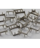 12X12MM Square Rim Settings 36 Pieces Silver - $5.44
