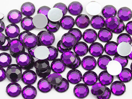 1.5mm SS5 Purple Amethyst A06 Acrylic Rhinestones High Quality - 500 PCS - $8.30