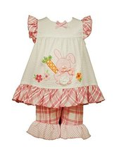 Bonnie Jean Toddler Girls Bunny Appliqued Seersucker Playwear Set, Pink, 3T - $34.55