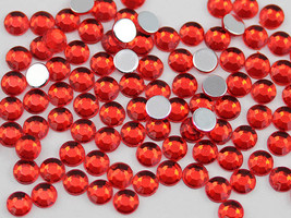 2.5mm SS9 Red Ruby A05 Acrylic Rhinestones High Quality - 500 PCS - $9.49