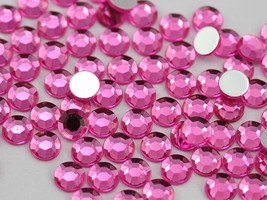 3mm SS12 Pink - Hot Pink A20 Acrylic Rhinestones High Quality - 200 PCS - $7.71