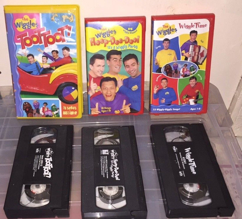 Lot of 3 Wiggles VHS Video Tapes