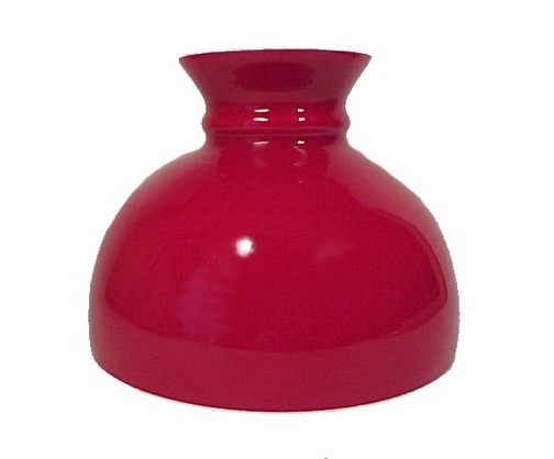 10 in Red Cased Glass Student Kerosene Oil Lamp Shade fits Aladdin Table Hanging