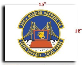 Air Force USAF 349th Mission Support Squadron CANVAS art print framed st... - $20.78