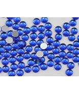 2.5mm SS9 Blue Sapphire A09 Acrylic Rhinestones High Quality - 500 PCS - $9.49