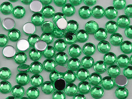 2.5mm SS9 Green Peridot A23 Acrylic Rhinestones High Quality - 500 PCS - $9.49