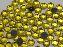 4mm  SS16 Yellow Citrine Y249 Hotfix Rhinestones (10 Gross) - 1440 Pieces - $30.02