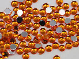 2.5mm SS9 Orange Topaz Deep A31 Acrylic Rhinestones High Quality - 500 PCS - $9.49