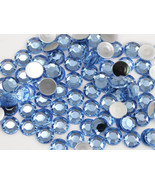2.5mm SS9 Blue Sapphire Lt. A32 Acrylic Rhinestones High Quality - 500 PCS - $9.49