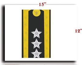 US Army Vietnam Rank Officer Shoulder 09 Lieutenant General Trung CANVAS art ... - $20.78