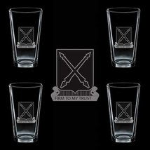 Us Army 154th Regiment Dui 4 Glass Set - $34.64