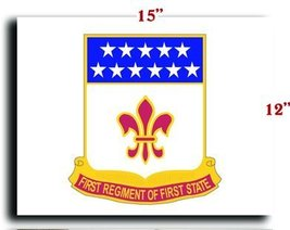 "US Army 198th Signal Battalion DUI CANVAS art print framed stretched 15""... - $20.78"