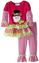 Bonnie Baby Baby Girls' Snowman Tutu Legging Set, Pink, 24 Months [Apparel]