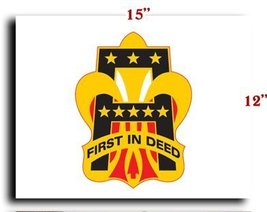 """US Army 1st Army DUI CANVAS art print framed stretched 15""""x12"""" [Kitchen] - $20.78"""