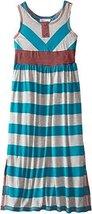 Bonnie Jean Little Girls' Wide Stripe Maxi Dress (6x, Turquoise) [Apparel]