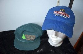 Lot of 2 Adjustable Baseball Hats Solitude Trails Pine, AZ & McDonald's Monopoly - $14.85