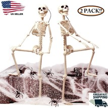 Human Skeleton Bones Real Life Hanging Halloween Props Decoration House ... - $12.19