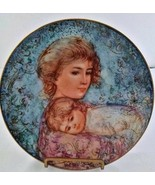 Edna Hibel Mother's Day Plate Abby and Lisa Knowles China - $21.04